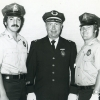 Officer Ken Albertelli (current chief), Chief Bowler, Officer Dan McGee (retired)